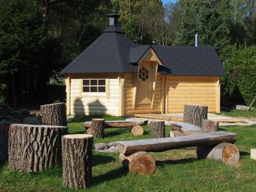 Finská sauna na naší útulné chalupě na Malé Morávce